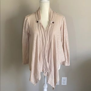 Eyeshadow Cardigan Sweater Open Front Lace Size XL